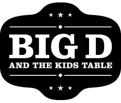 Band page for Big D and the Kids Table