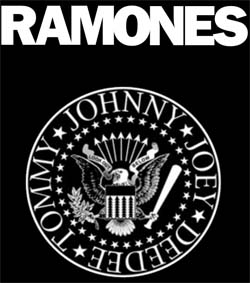 Band page for Ramones