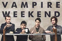 Band page for Vampire Weekend